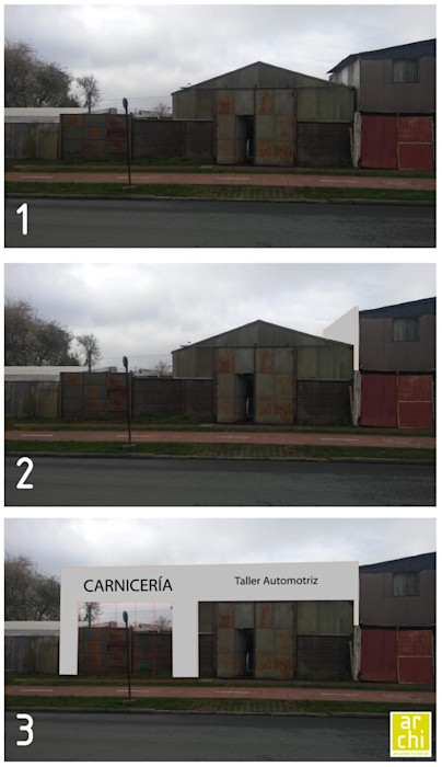 PROCESO DE DISEÑO ARQUITECTO CHILLAN EIRL Espacios comerciales Concreto reforzado