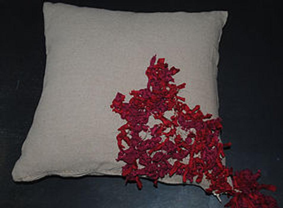 Pompón.Do | Conjín Ajulejo Ana Salomé Branco ArteObjetos artísticos Yute Rojo
