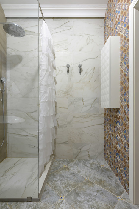 """""""Forever young"""". White Cozy Home. SAZONOVA group Ванная комната в скандинавском стиле"""