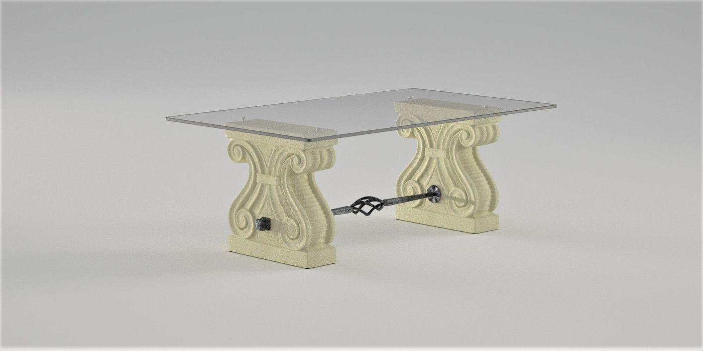 Tavolino da salotto Platone DABLEC di Tiziano Moletta SoggiornoTavolini Sintetico Beige
