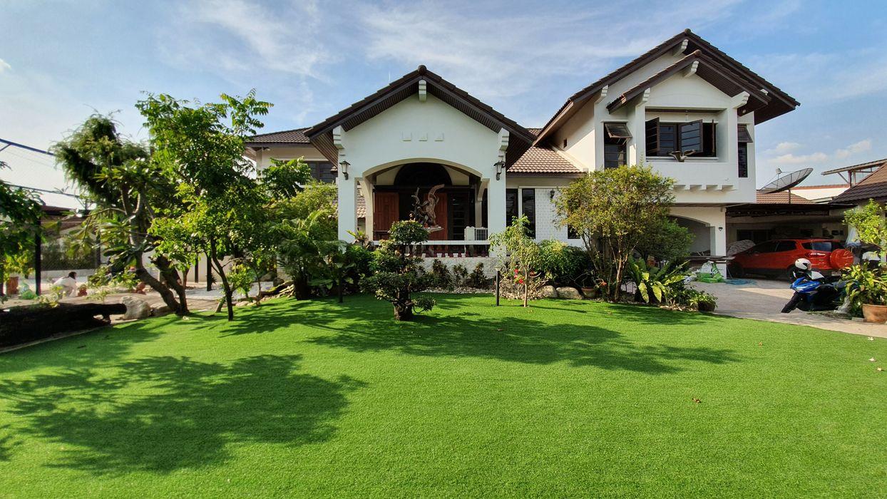ปูหญ้าเทียม Trimitcivil&engineering สวนหน้าบ้าน