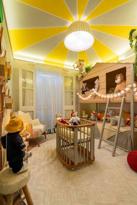 Lúcia Vale Interiores Dormitorios de bebé Madera Gris