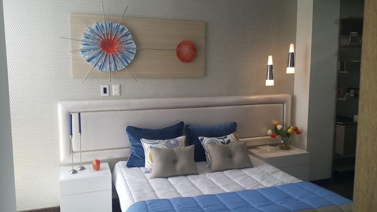 Espacios que transmiten tranquilidad y paz B-House by elvira DormitoriosCamas y cabeceros