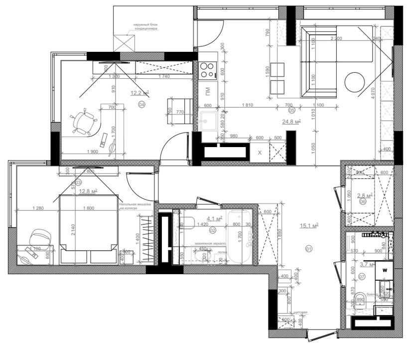 Студия дизайна интерьера квартир в Киеве belik.ua Стіни