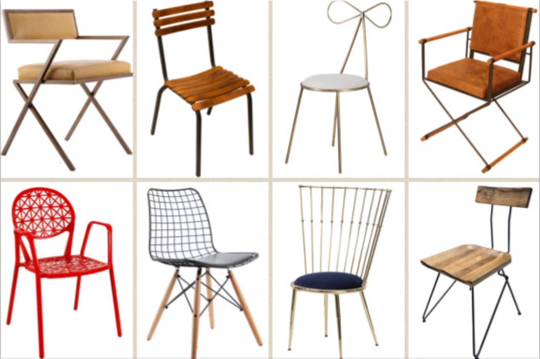 Metal chairs and stools SG International Trade Балкони, веранди & тераси Меблі