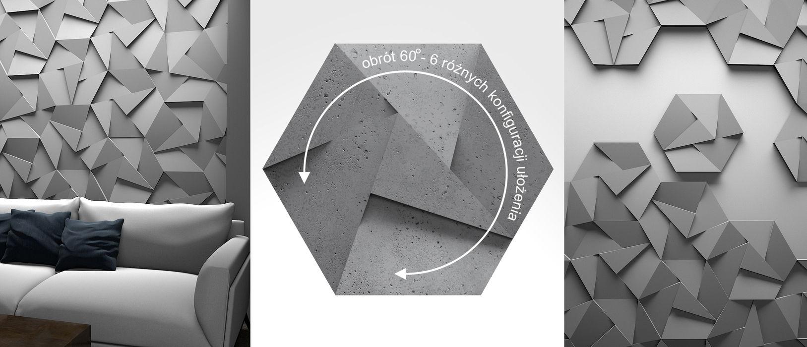 ZICARO - producent paneli 3D ЇдальняАксесуари та прикраси Керамічні Білий