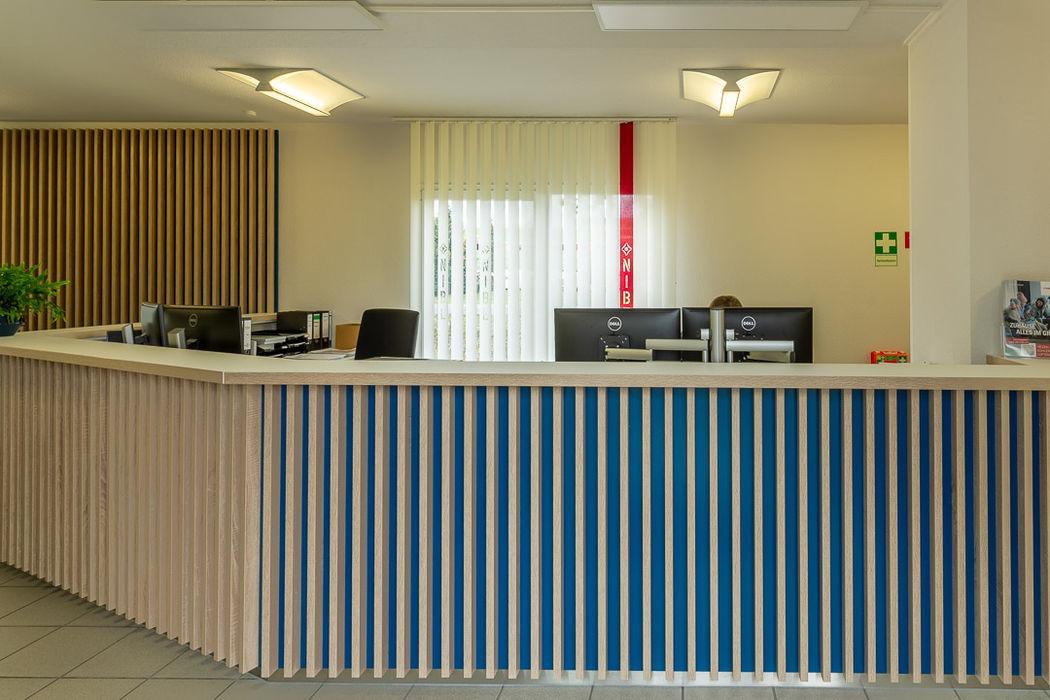Nachher Empfang - hyggelig! Räume werden Teil der Unternehmenskultur Interiordesign - Susane Schreiber-Beckmann gestaltet Räume.