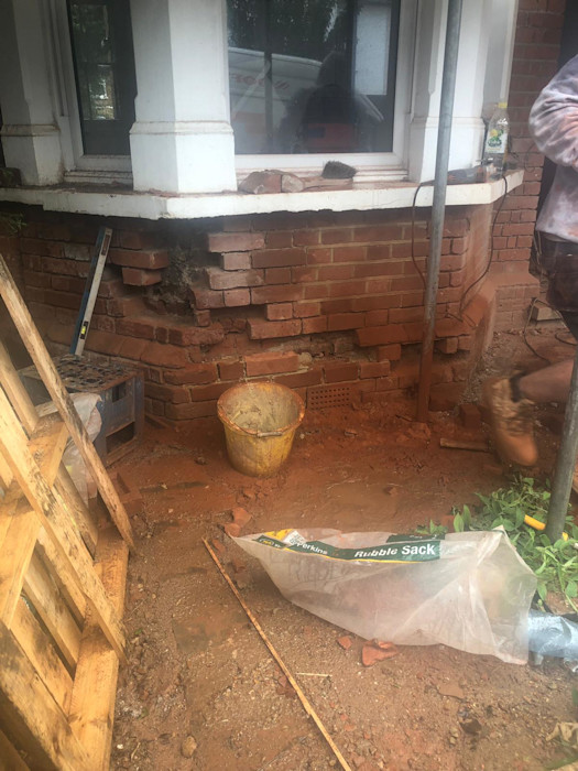 Before brick repointing S.J. Pointer