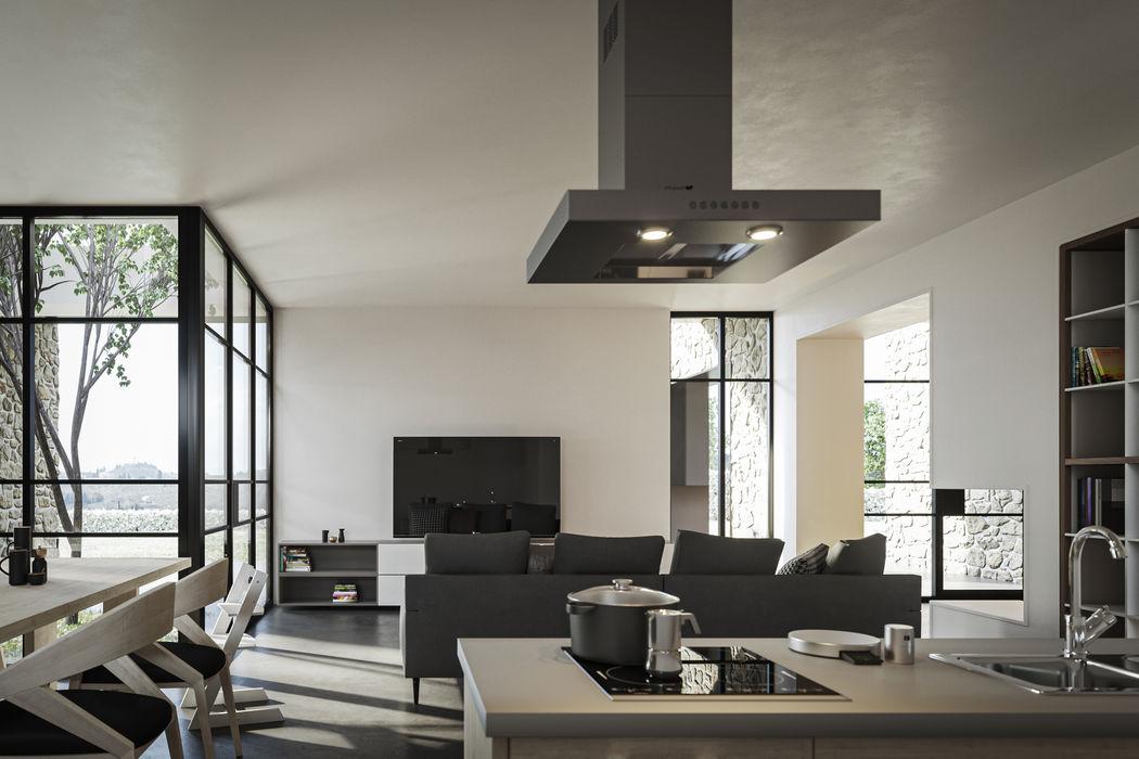 Abitazione 149 – Chianti Soffici e Galgani Architetti Soggiorno moderno