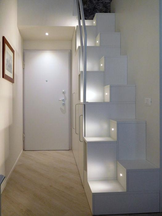 Studio di Architettura IATTONI Koridor, Hol & MerdivenlerIşıklandırma