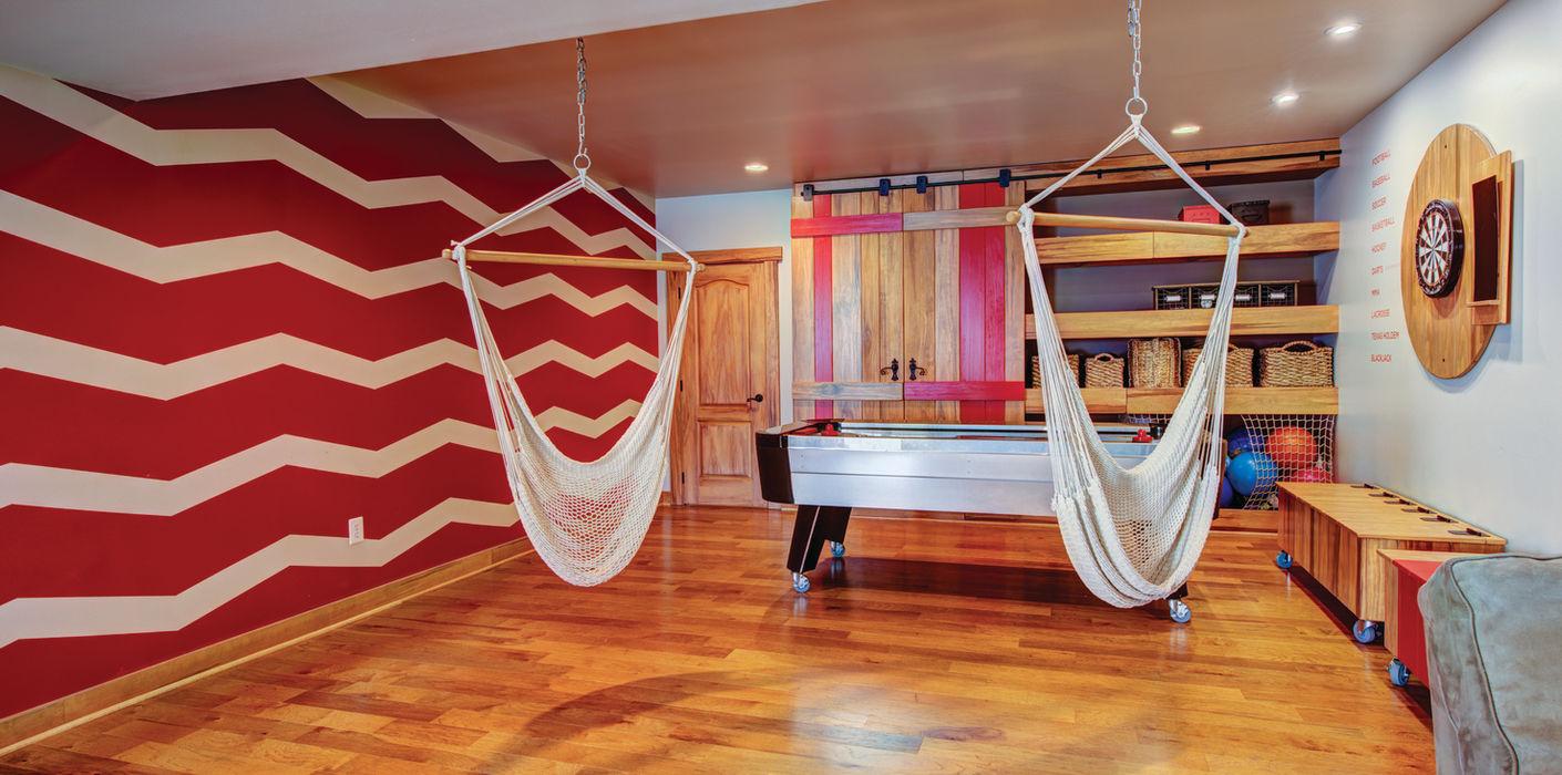Adaptiv DC غرفة المعيشة خشب Red