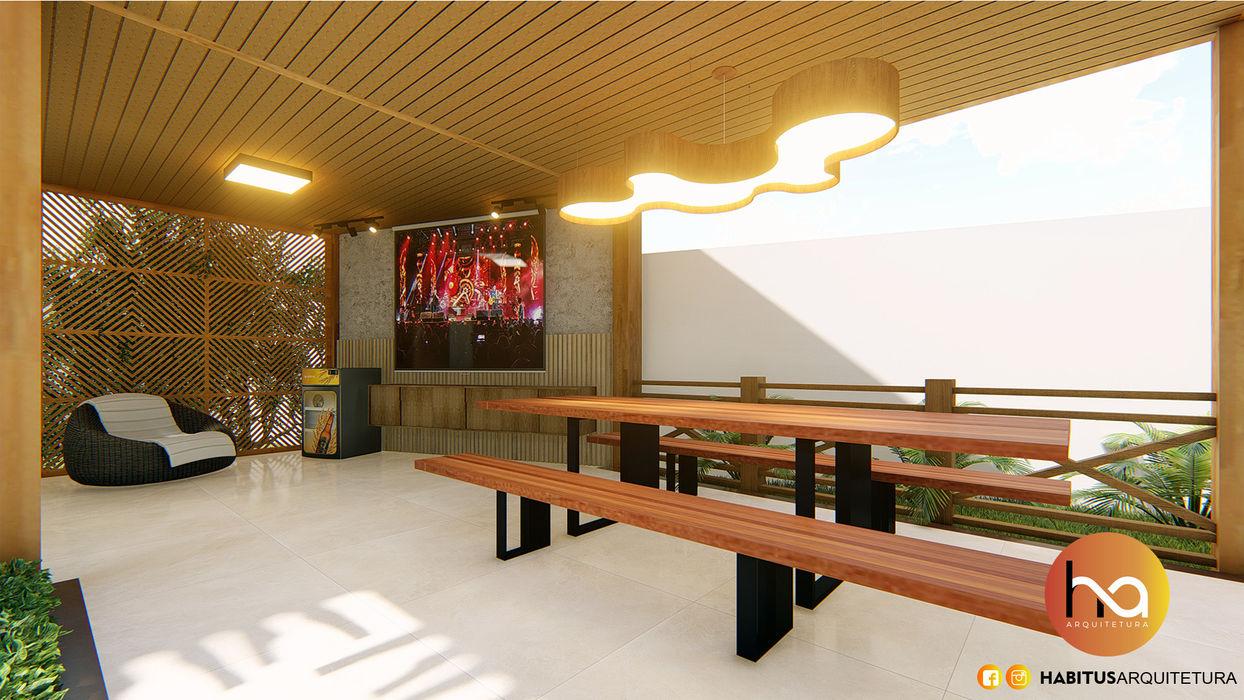 02 Habitus Arquitetura Varandas, alpendres e terraços modernos Madeira Efeito de madeira