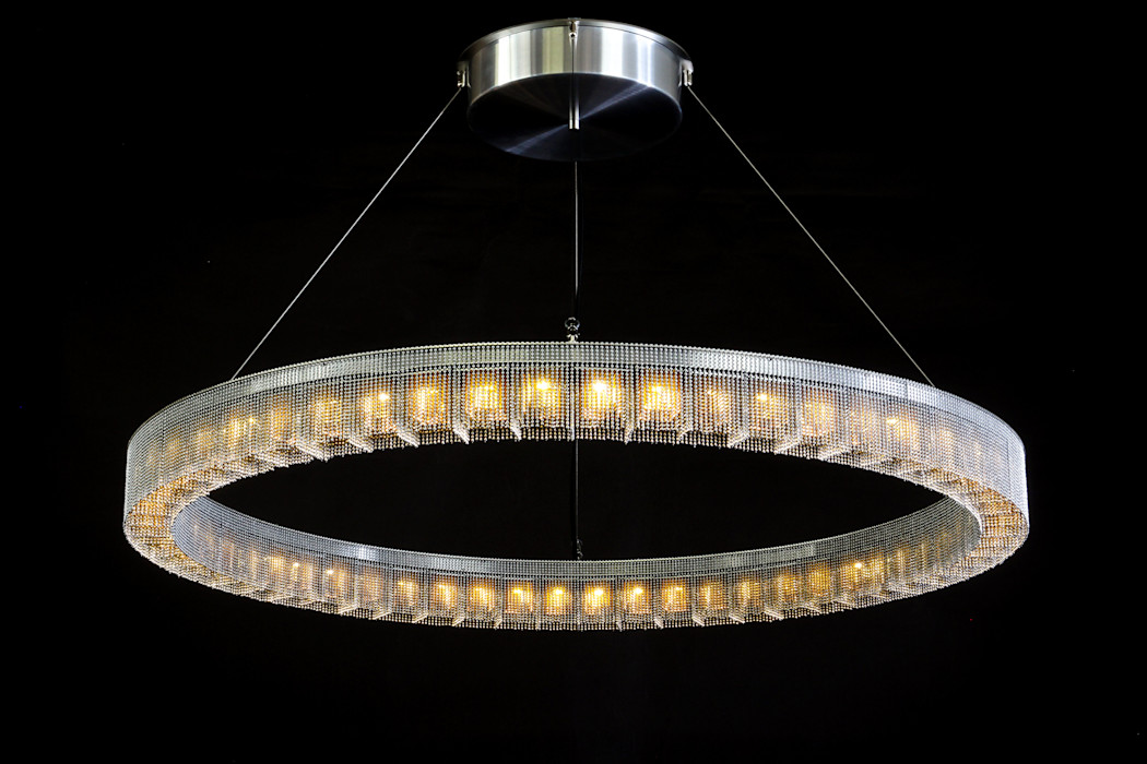 The Radial chandelier by willowlamp willowlamp Dining roomLighting Metal Metallic/Silver