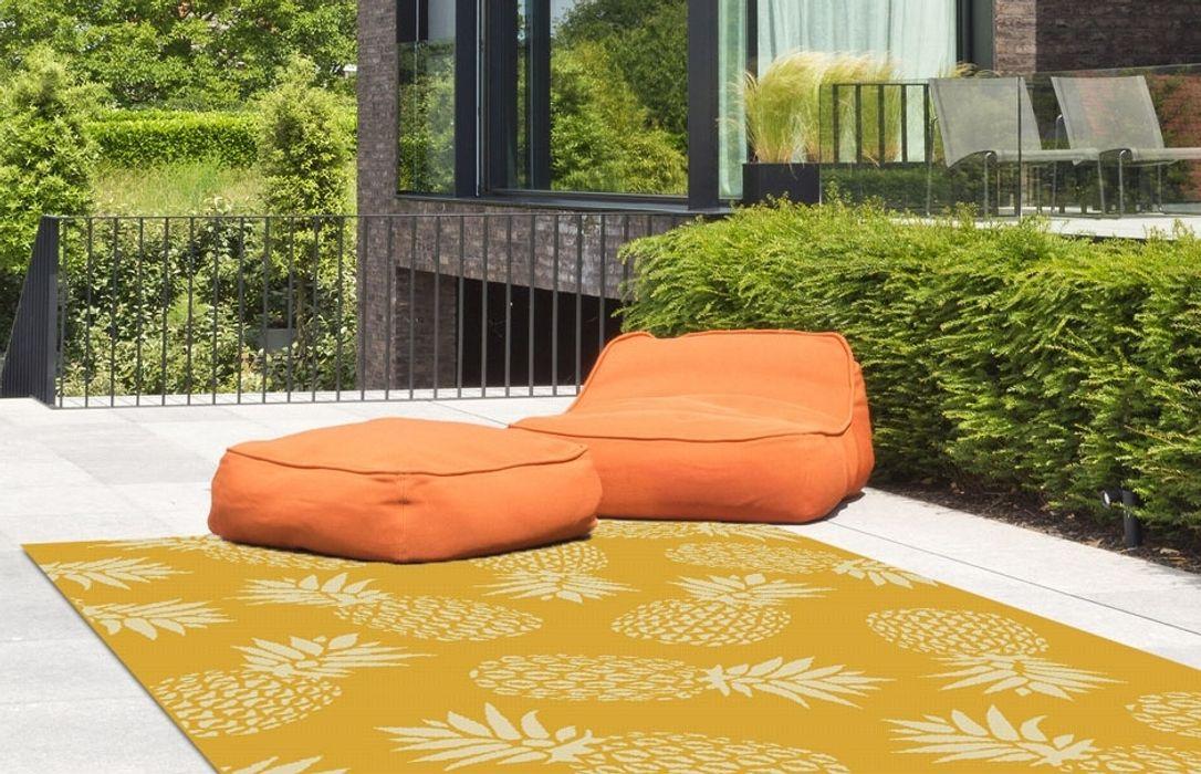 Tappeto outdoor Coastal Ananas Yellow Webtappeti GiardinoAccessori & Decorazioni Tessuti Giallo