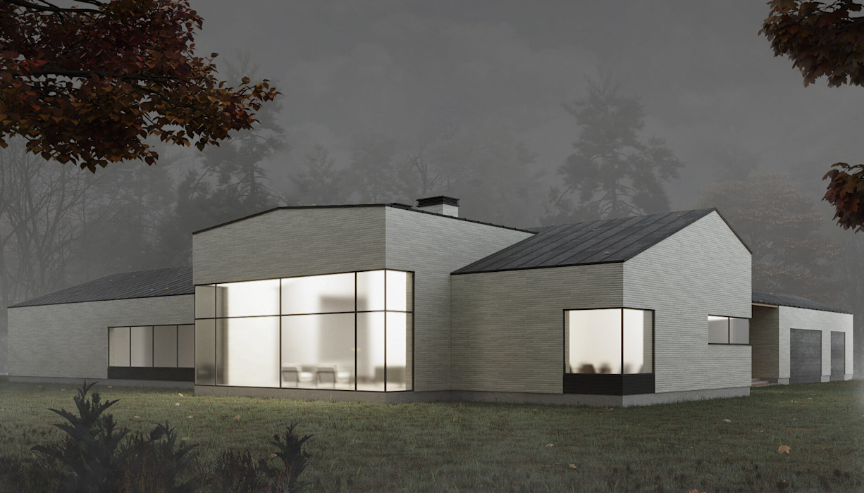Одноэтажная вилла в стиле Минимализм InScale Вилла