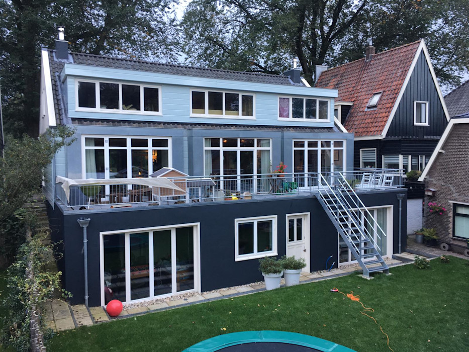 YBB Architecture Amsterdam Wooden houses Wood Blue