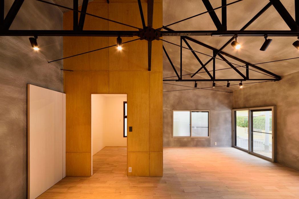 SA-HOUSE 株式会社長野聖二建築設計處 モダンデザインの リビング