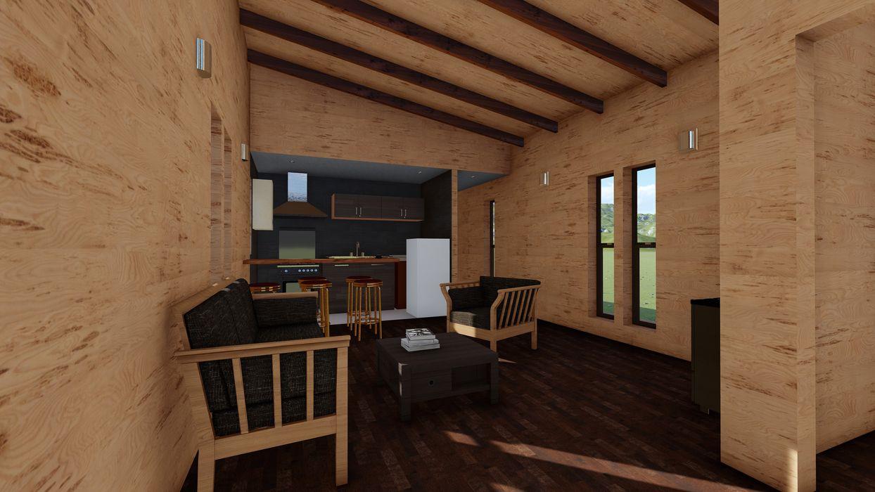Nave + Arquitectura & Modelación Paramétrica Minimalist living room