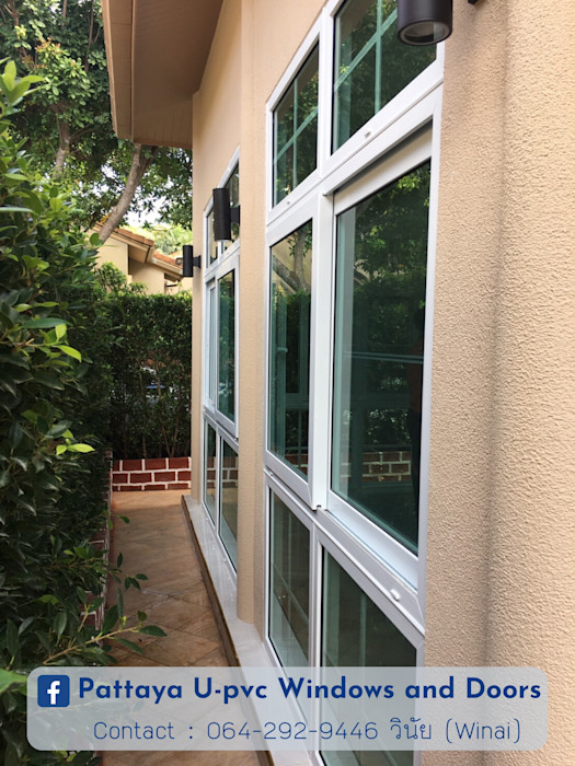 โรงงาน พัทยา กระจก ยูพีวีซี Pattaya UPVC Windows & Doors uPVC windows Glass White