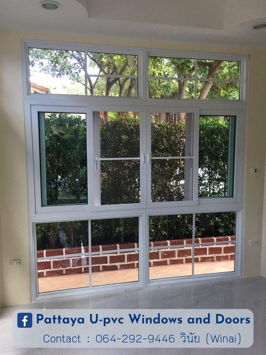โรงงาน พัทยา กระจก ยูพีวีซี Pattaya UPVC Windows & Doors uPVC windows Plastic White
