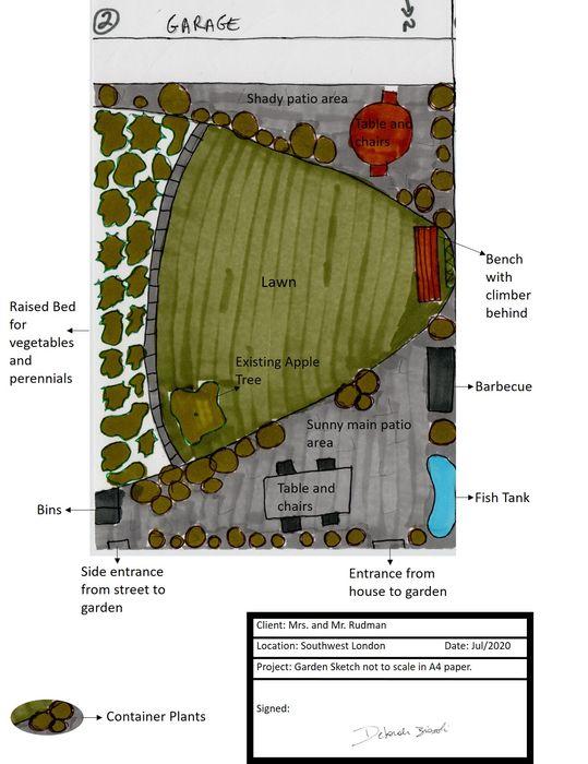 Online Garden Sketch The Rooted Concept Garden Designs by Deborah Biasoli Eclectic style garden