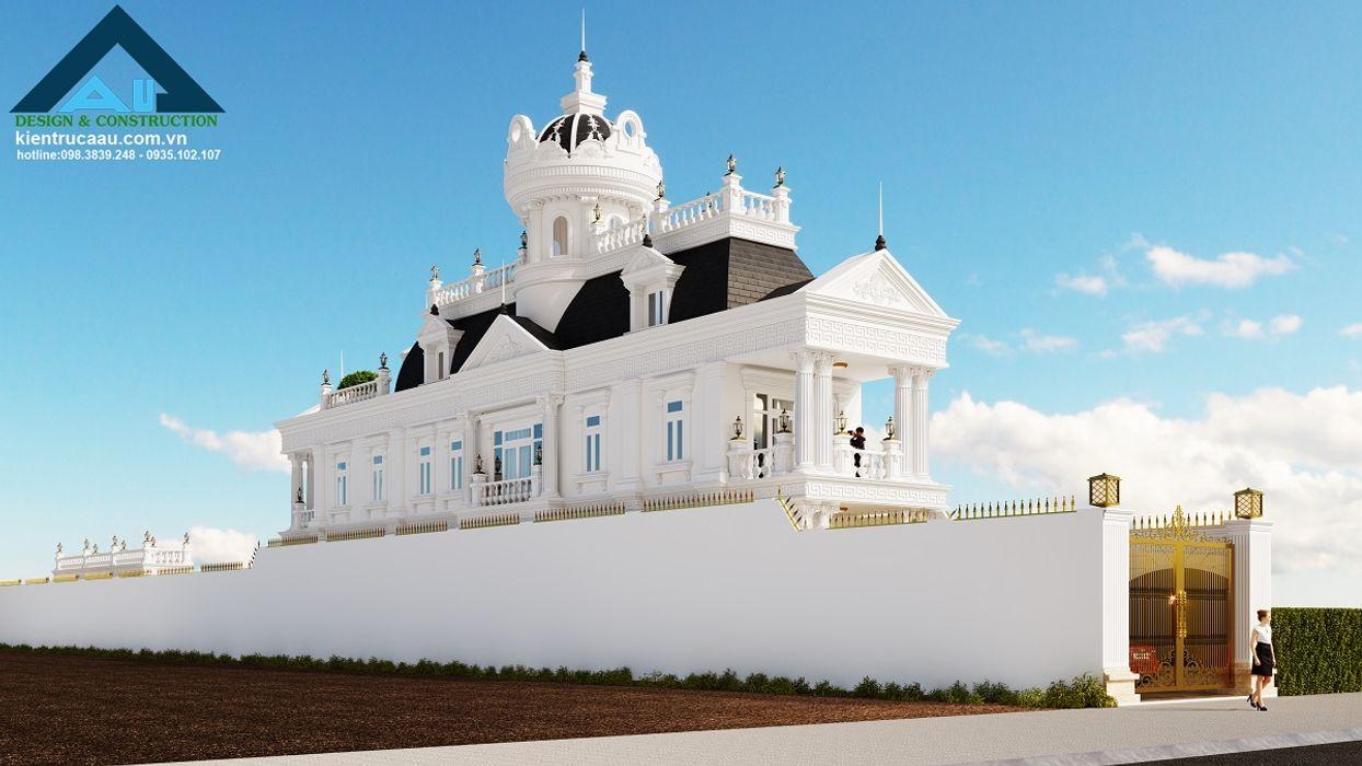 Phối cảnh mặt tiền phía trước Công ty Kiến trúc Á Âu Biệt thự