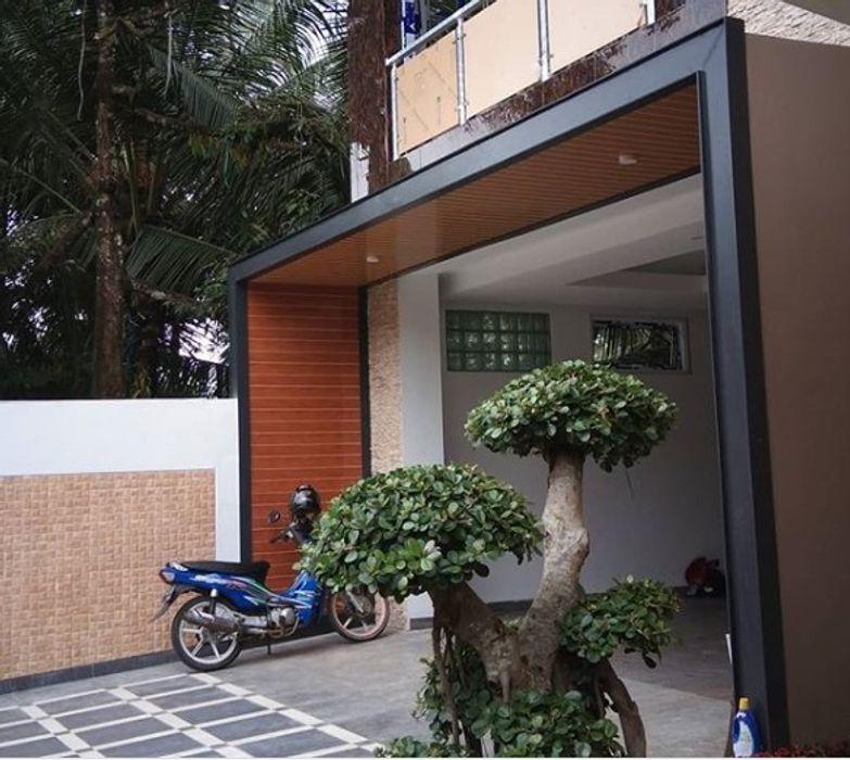 Alfaiz Design Varandas, alpendres e terraços modernos Plástico Castanho