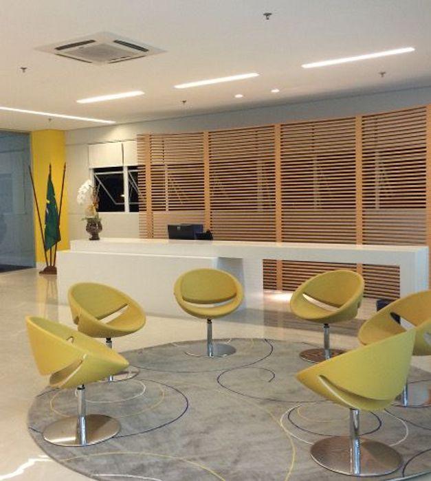 Spazhio Croce Interiores Офіс Інженерне дерево Жовтий