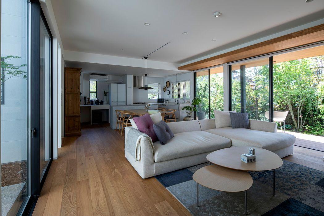 長束の家 有限会社アルキプラス建築事務所 和風デザインの リビング