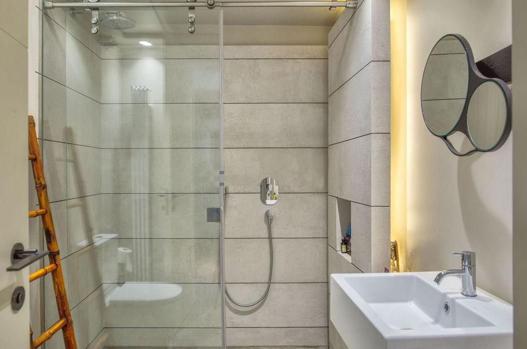 baño secundario AFD ESTUDIO DE ARQUITECTO Baños de estilo moderno