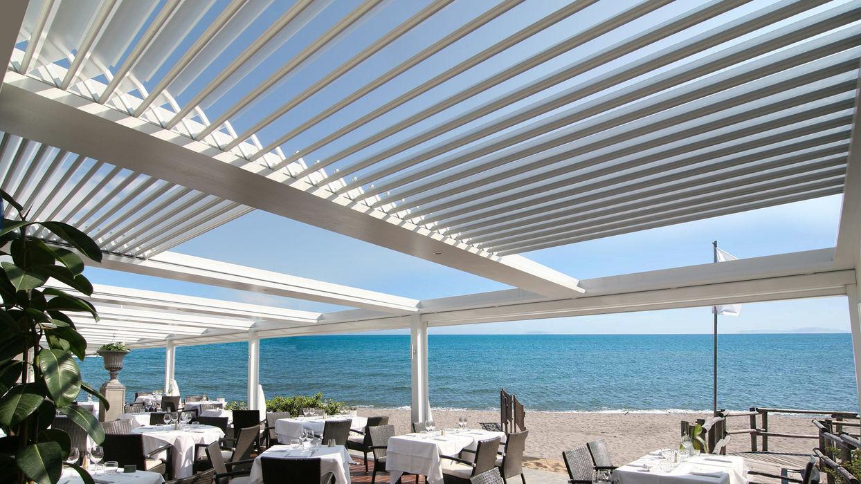 PERGOLA IMPACCHETTABILE IN ALLUMINIO unica living design Pergola Alluminio / Zinco