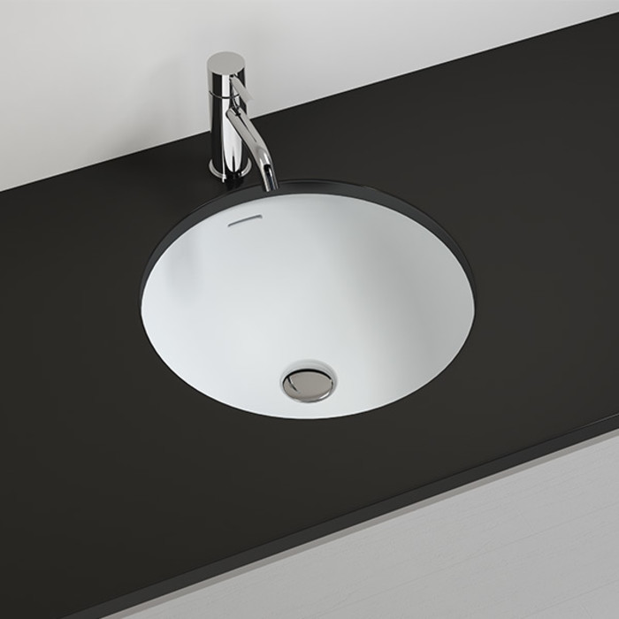 Mineralguss Unterbau-Waschbecken UB-03 Badeloft - Badewannen und Waschbecken aus Mineralguss und Marmor Moderne Badezimmer
