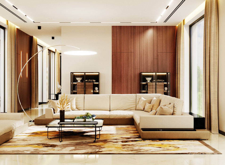 Гостиная Студия дизайна ROMANIUK DESIGN Гостиная в стиле минимализм