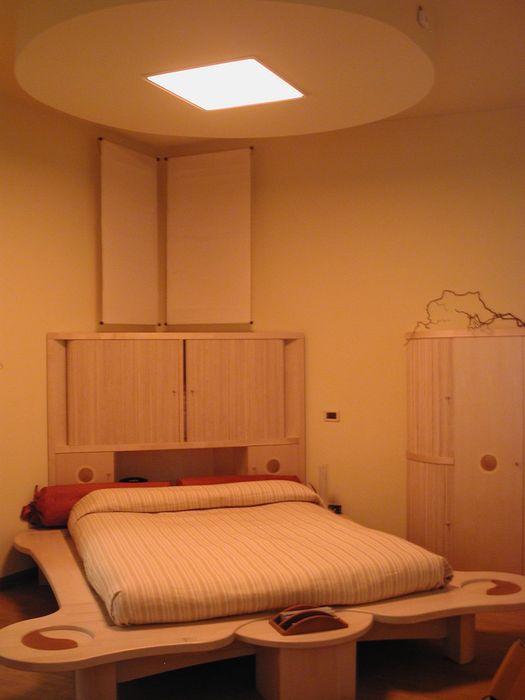 camera Benessere, con arredi in legni certificato FSC Anita Cerpelloni Paper Project Venice Camera da letto moderna Legno massello Effetto legno