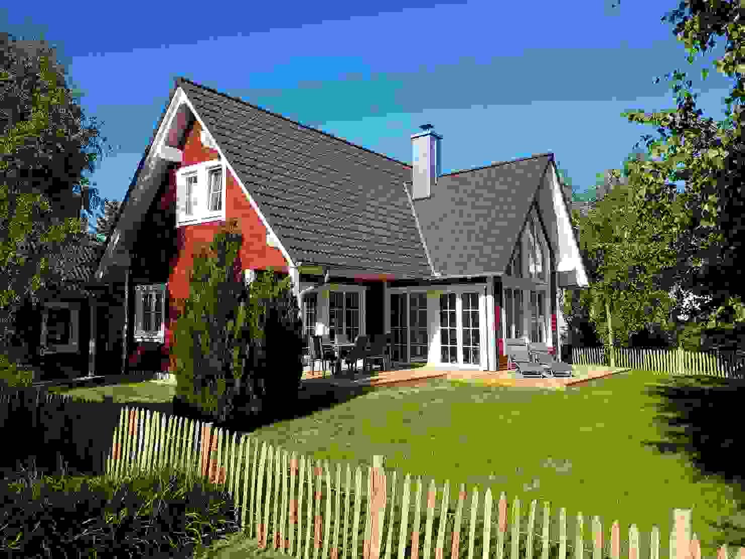 Ökologisches Ferienhaus im skandinavischen Stil