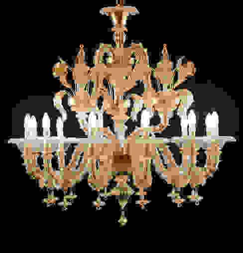 Lampadrio classico Rezzonico in cristallo e oro - VENIER di YourMurano Lighting Classico Vetro