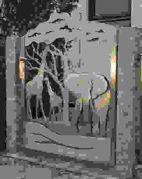 Edelstahl Tordesign Moderner Garten von Edelstahl Atelier Crouse - individuelle Gartentore Modern