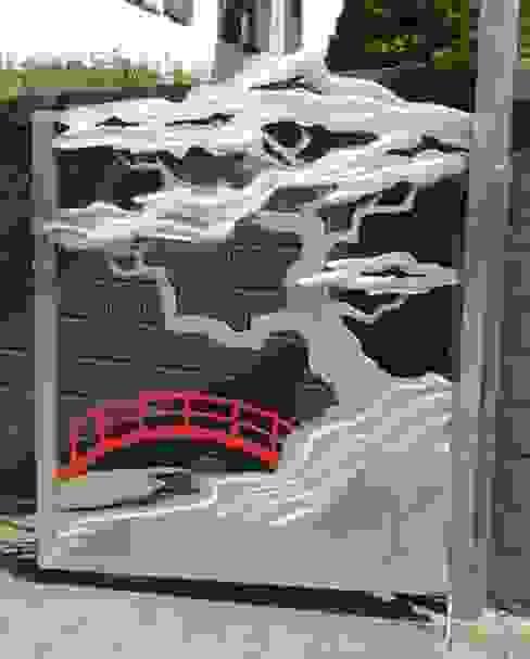 Edelstahltore Asiatischer Garten von Edelstahl Atelier Crouse: Asiatisch