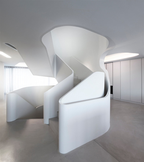 Modern Corridor, Hallway and Staircase by J.MAYER.H Modern