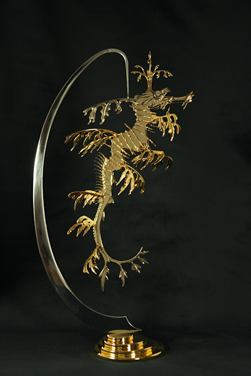 Leafy Sea Dragon (Skulptur) Kunstschmied Mark Prouse von Kunstschmied Mark Prouse Elements Tropisch