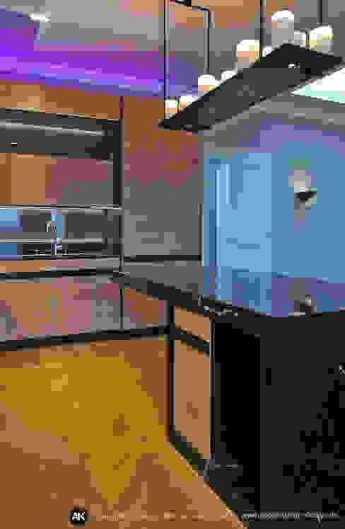 Harvestehuder Weg - Penthouse homify Moderne Küchen