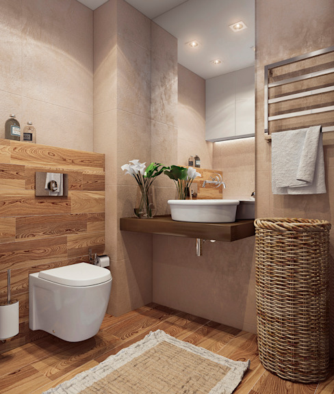 Minimalist style bathrooms by Angelina Alekseeva Minimalist