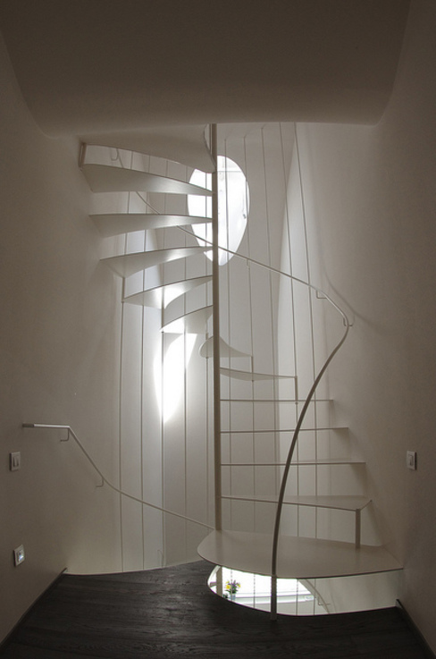 lauro ghedini & partners _ architecture.design studio Couloir, entrée, escaliers modernes