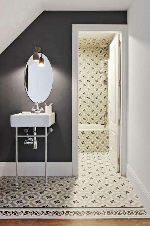 Baño integrado en dormitorio Baños de estilo escandinavo de decoraCCion Escandinavo