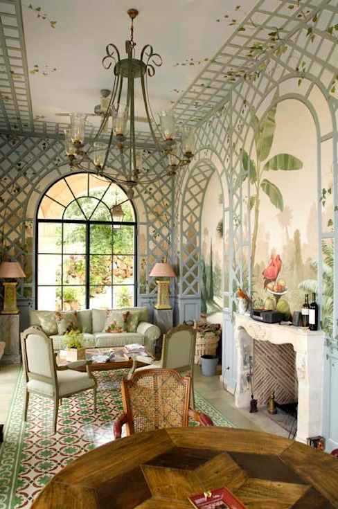 Illusionen mit Farbe Ruang Keluarga Klasik
