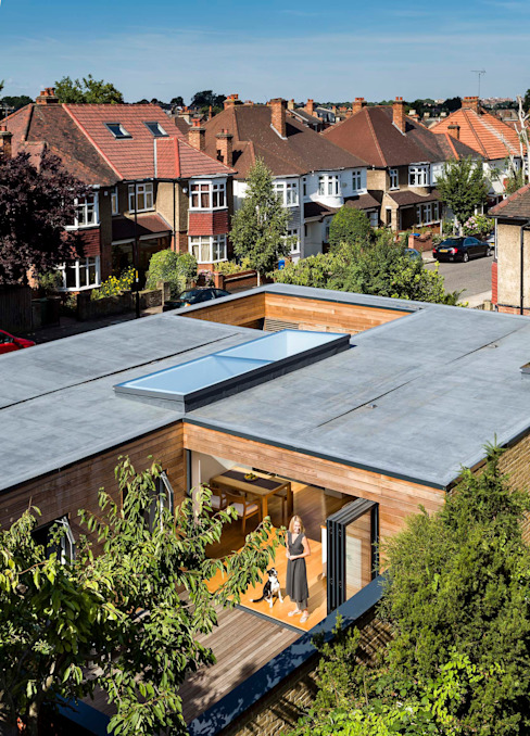 Courtyard House - East Dulwich Modern houses by Designcubed Modern