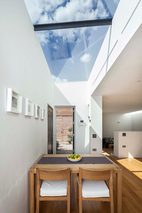 Courtyard House - East Dulwich Designcubed 餐廳