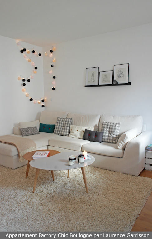 Appartement Factory Chic Salon moderne par La Decorruptible Moderne