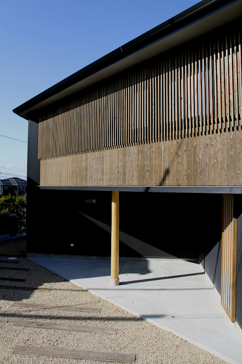 外観: 秀田建築設計事務所が手掛けた家です。,和風