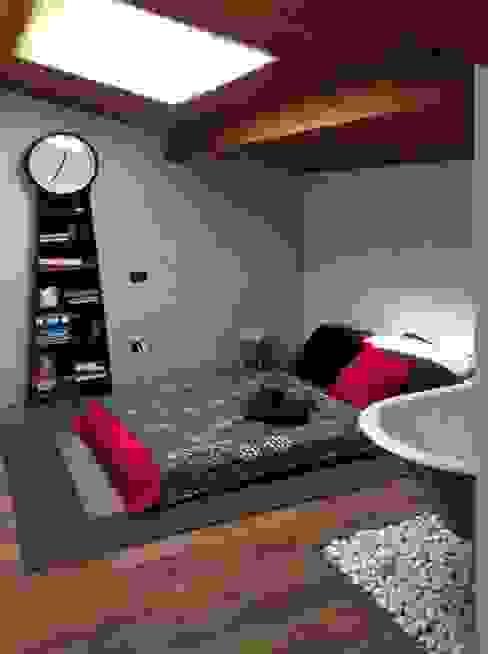 Il letto Camera da letto moderna di Spazio 14 10 di Stella Passerini Moderno